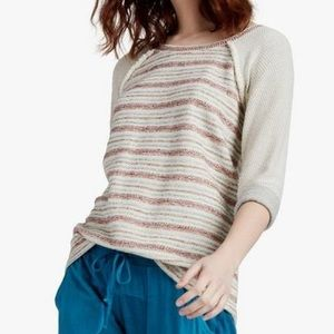 Lucky Brand Striped Terry Pull Over Sweater